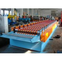 China 1 Inch Chain Aluminum Sheet Roll Forming Machinery Hydraulic Cutting 300 H SGS on sale