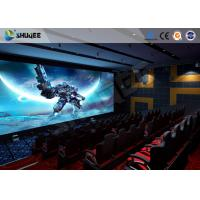 China Exciting 5 D Movie Theater Electronic Chair With Safety Belt , Armrest wholesale