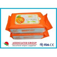 China Biodegradable Wet Baby Wipes For Sensitive Skin / Unscented Baby Wipes wholesale