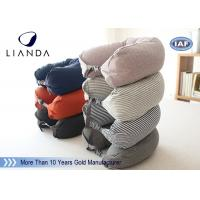 China Comfortable Travel Neck Pillow U Form Microbead Neck Pillows , Blue Brown Red on sale