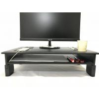China PVC Laminated Computer Monitor Stand Adjustable Heights With Storage Shelf wholesale