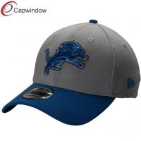 China Classic Grey Flex Cotton Baseball Caps with Curved Bill and Quality Embroidery wholesale