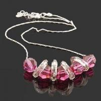 China Fashionable Necklace, Decorated with Glass Beads, ODM and Small Orders are Welcome wholesale