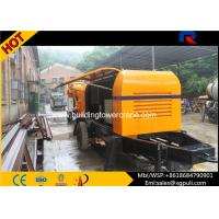 China Portable Concrete Stationary Pump  , Cement Mixer Trailer 0.6M3 Hopper Volume wholesale