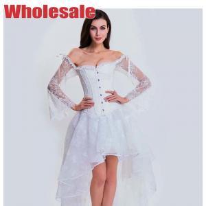 China Nanbin White Wedding Corset 34.25 Inch Plus Size Bridal Bustier wholesale