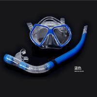 China blue Super cheap Rubber mask diving mirror snorkeling equipment Diving mirror and snorkel wholesale