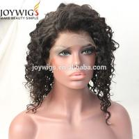 Celebrity Style Brazilian Virgin Hair Afro Kinky Curly Glueless Full Lace Wigs For African Americans Front Lace Wig