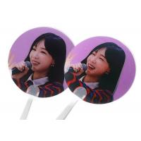 China Personalized 3D Lenticular Clear Transparent Paper Hand Fan With Plastic Handle wholesale