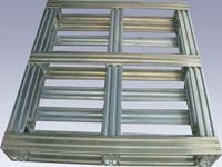 China Industrial Returnable Storage Galvanized Steel Pallets Single Face Or Double Face wholesale