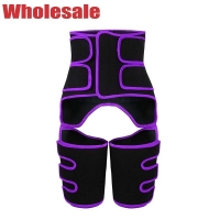China OEM 3 Velcro Straps Waist Thigh Trimmer Booty Sculptor Thigh Trimmers wholesale