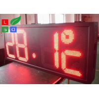 China P10 Red LED Time And Temperature Programmable Digit Signs Auto Dimming By Sensor wholesale