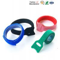 China Small Hook And Loop Cable Ties Down Straps , Self Adhesive Hook And Loop Closure wholesale
