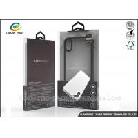 China Phone Case Clear Plastic Boxes 12 Colors Gravure Printing With PVC Windows wholesale