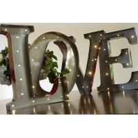 Large 20 silver galvanized marquee letter lights for for Decoration 5 letters