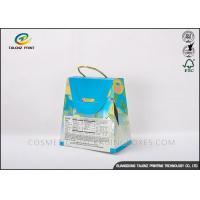 China Handbag Shaped Cardboard Food Boxes Durable Handle CMYK Color Printing wholesale