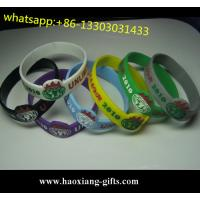 China customized beautiful silicone bracelet & wristband with debossed/embossed logo wholesale