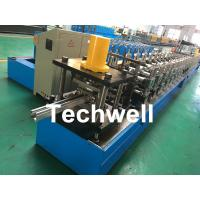 China Galvanized Steel / PPGI Guide Rail Roll Form Machines With Hydraulic Punching Device wholesale