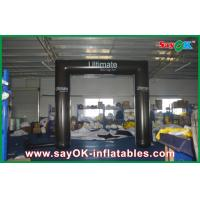 China Black Truss Inflatable Arch PVC Tube Archway With CE / UL Blower wholesale