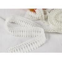 China Milk Silk Polyester Embroidered Lace Trim For Dress / Garments Indian Style wholesale