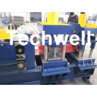 Wholesale 7.5 Kw, 0 - 15 m/min Hydraulic Cutting Ridge Tile Roll Forming Machine for Roof Ridge Cap from china suppliers