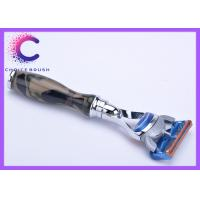 China Camouflage Shaving Five Layers Military Fusion Razor For Men , Acrylic Handle wholesale