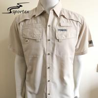 China 100% Polyester Ripstop Mens Fishing Shirts Waterproof For Summer on sale