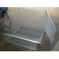 China Removable Wire Mesh Container,Foldable Metal Mesh Cage,50x50mm,Galvanized or PVC wholesale