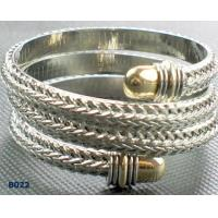 China ODM metal bangles with gunmetal plated and gemstones wholesale