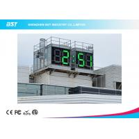 China Waterproof 64 Inch Large Display Green Digital Led Wall Clock With Seconds wholesale