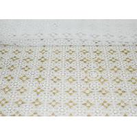 Buy cheap DTM French Guipure Corded Lace Fabric 100 Polyester Chemical Lace With Small MOQ from wholesalers