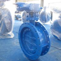Quality PN10 Cast Iron Eccentric Butterfly Valve , Double Offset Soft Seal Butterfly Valve for sale