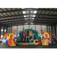 China Dinosaur Inflatable Water Park For Land With Big Inflatable Swimming Ring Pool wholesale