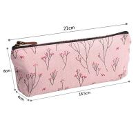 Quality Soft Nylon Zipper Pencil Pouch For Girls Pencil 21*18.5*8 Cm for sale