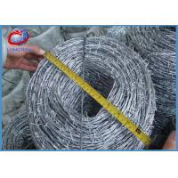 China Bright Galvanized Fencing Barbed Wire Green PVC Coated Anti-Corrosion wholesale