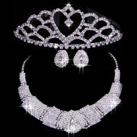 China Custom luxurious Color Wedding Jewelry Set / accessories for bridal wholesale