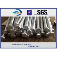 China Oxide Black / Plain 8.8 Grade HEX Railway Bolt 24x3x1100mm With GB Standard wholesale