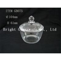 China hot-selling clear glass bowl with lid, glass container cheap wholesale