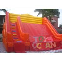 China Red Yellow Color Matching Costomized Size Giant Inflatable Slide Customzied Color wholesale