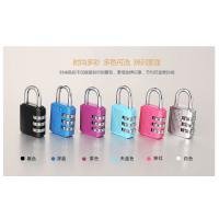 Quality Colorful Resettable Combination Padlock 3 Digit Password Suicase Padlock for sale