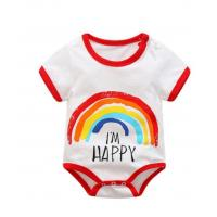 China Comfortable Baby Boy Short Sleeve Bodysuits PMS Color 130GSM - 200GSM wholesale