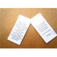 China Heat cut Clothing Label Tags woven for back neck label with customized logo wholesale
