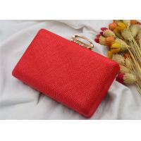 Summer Female Party Wedding Evening Clutch Bags , Ladies Clutch Bags With Ring Clasp