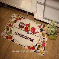 China Cartoon bird design welcome door mat on sale
