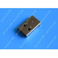 China USB 2.0 A Male USB Charging Connector , Plug Jack Mounting Solder 4 Pin PCB Connector wholesale