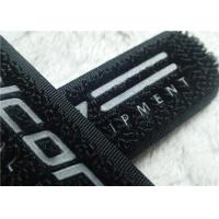 China High Frequency Hook And Loop Fastener 3M Reflective Siliver TPU Logo Velcro For Clothes on sale