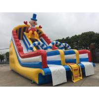 Outdoor Commercial Inflatable Water Slides Fire Retardant Anti - UV PVC Tarpaulin
