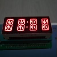 China 7 Segment 4 Digit Alphanumeric LED Display Bright Red For Instrument Panel wholesale
