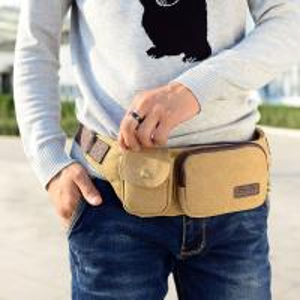 China Dual Use Tear Resistant Canvas Sport Waist Bag Practical Large Capacity wholesale