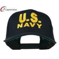China US Navy Embroidered Army Baseball Hats Cotton For Adult / Unisex wholesale