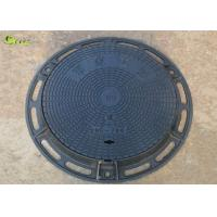 China Heavy Duty Cast Iron Drain Grating Recessed Round Manhole Cover Lid With Frame wholesale